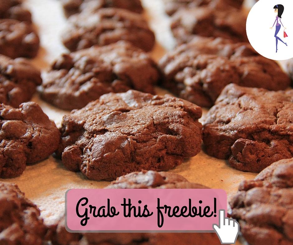 Catchy freebie template choc cookies